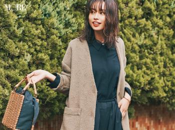 【今日のコーデ】<西本有希>黒コーデにノーカラーコートで女子会はちょっとエッジィに