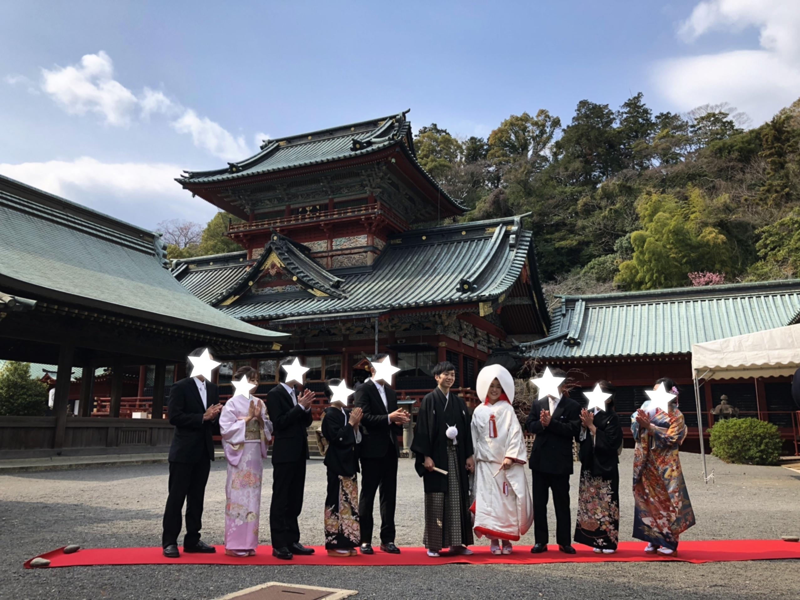 【本格和婚①】【神前式】徳川家ゆかりの神社で式を挙げました*。_3