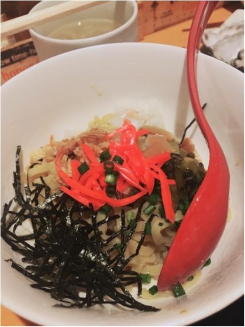 牡蠣、油そばが美味しい!ドリンクは【サッポロクラシック】がおススメですよ(^^)_2