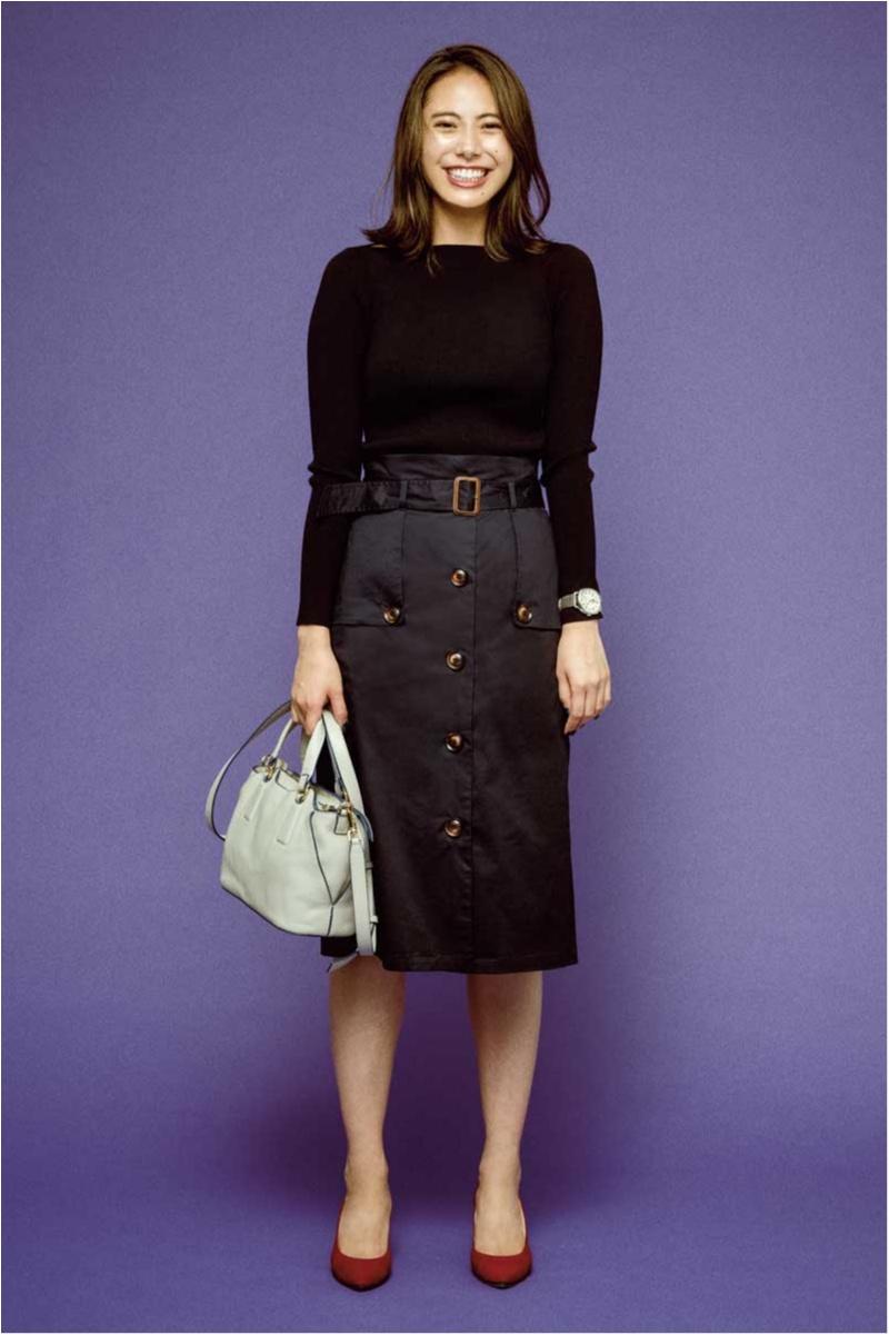 テチチのトレンチコートディテールスカート