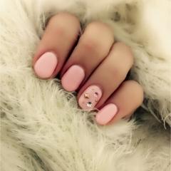2月のネイルはピンクでバレンタインを意識してみました♡