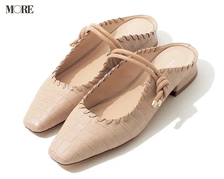 【人気ブランドのおすすめ靴】『ジェリービーンズ』型押しミュール