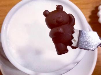 <福岡*博多>くまさんを沈める?!念願の冬季限定ドリンクを求めて人気のカフェへ行ってきました!♡
