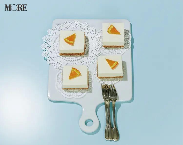 簡単スイーツレシピで作ったチーズケーキ
