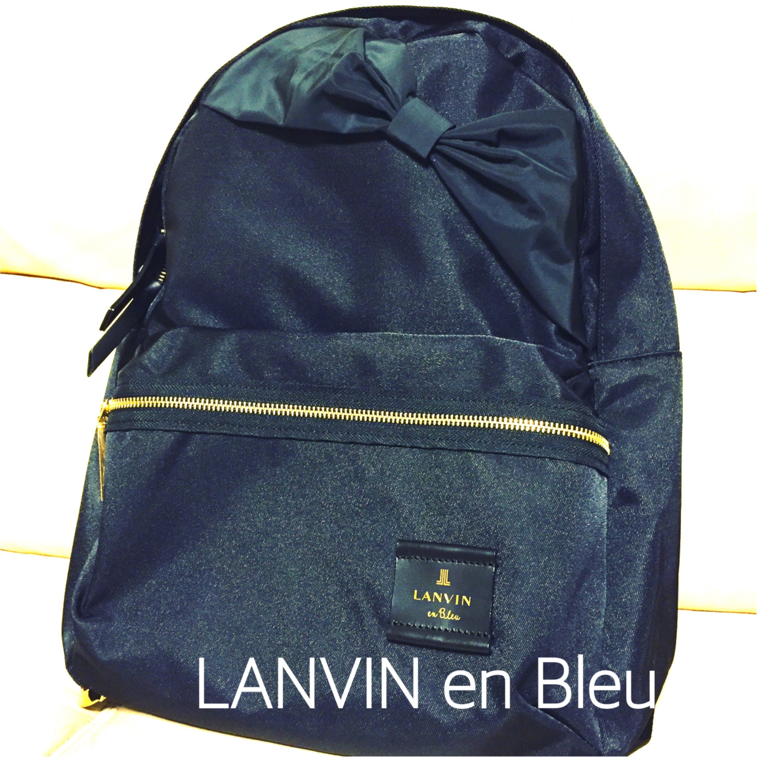 ❤︎大人かわいい❤︎LANVIN en Bleuのリボンリュック_1