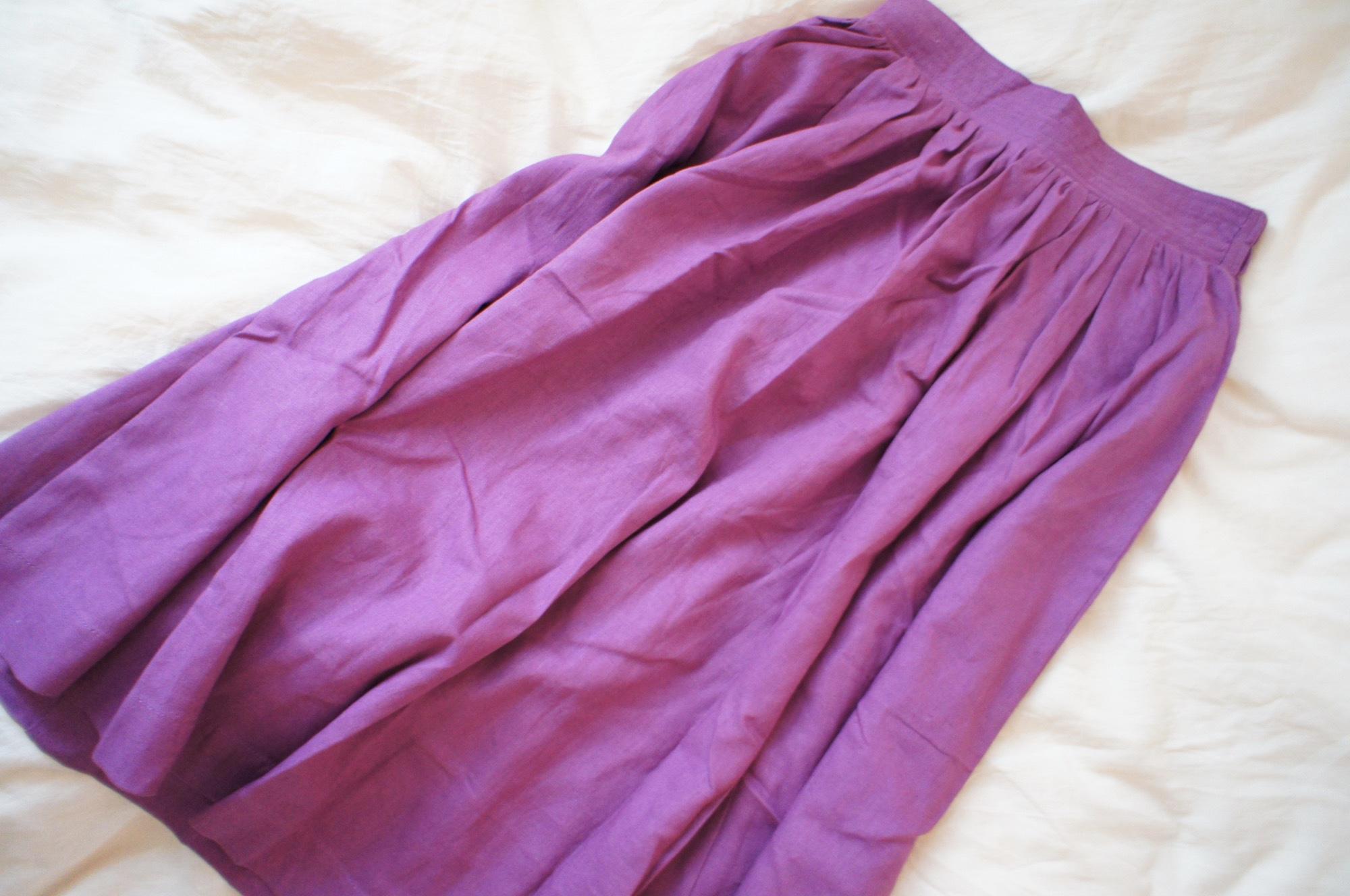 《#170cmトールガール》のプチプラコーデ❤️【MORE本誌にも掲載!】¥2,990+税のラベンダーカラースカートが使える☻_1