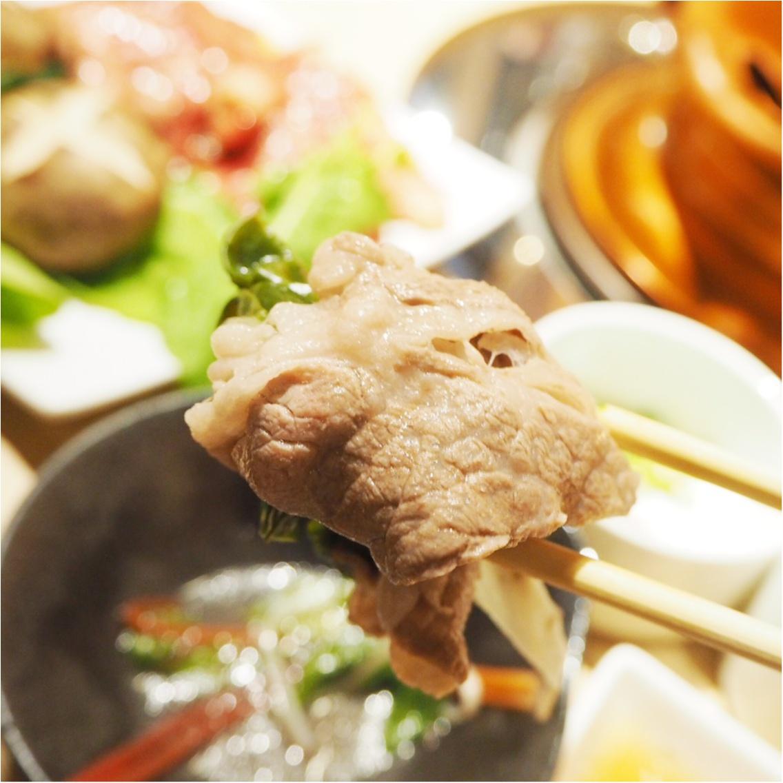 お肉と旬野菜のマリアージュ♡ふうふう亭 緑席_15