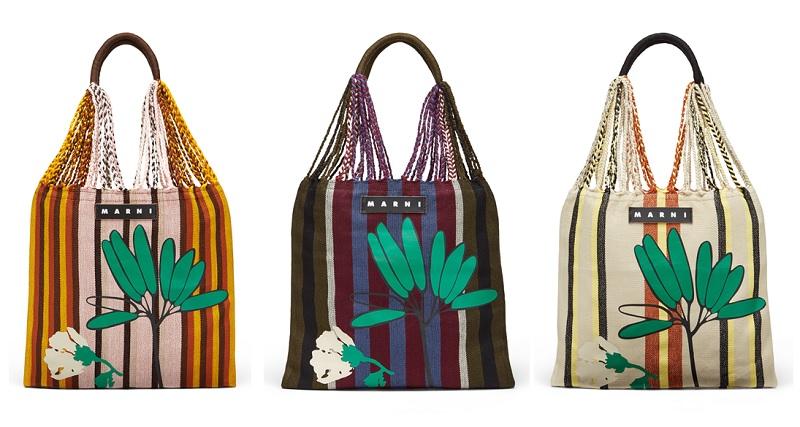 マルニの新作バッグ「フラワーハンモックバッグ」