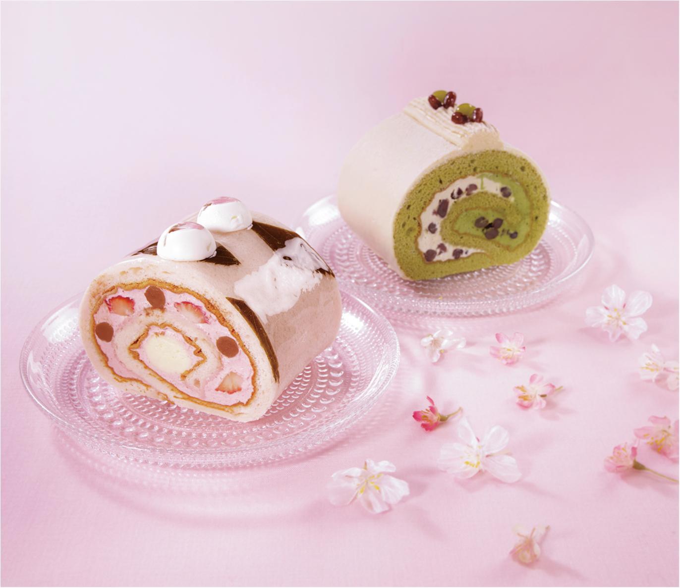 『パティスリー キハチ』のロールケーキで桜と抹茶を食べくらべ♡_1
