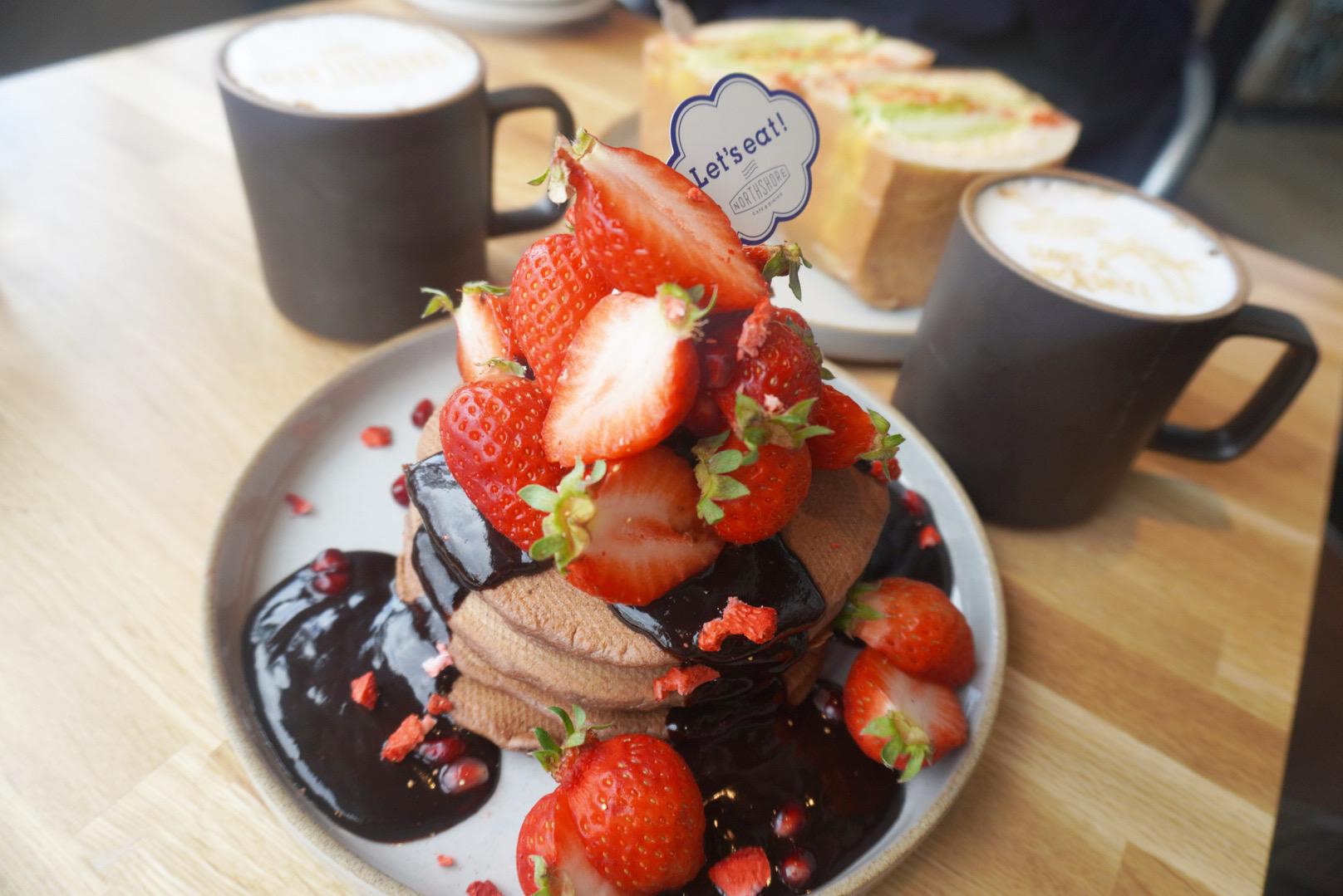 【おすすめいちごスイーツ】NORTHSHORE CAFE&DINING北浜でいちごのパンケーキ❤︎_4