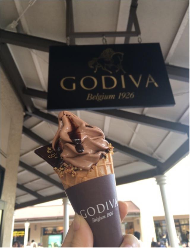 一度は食べたい【GODIVAのソフトクリ~ム】濃厚リッチなダブルチョコソフト!_6