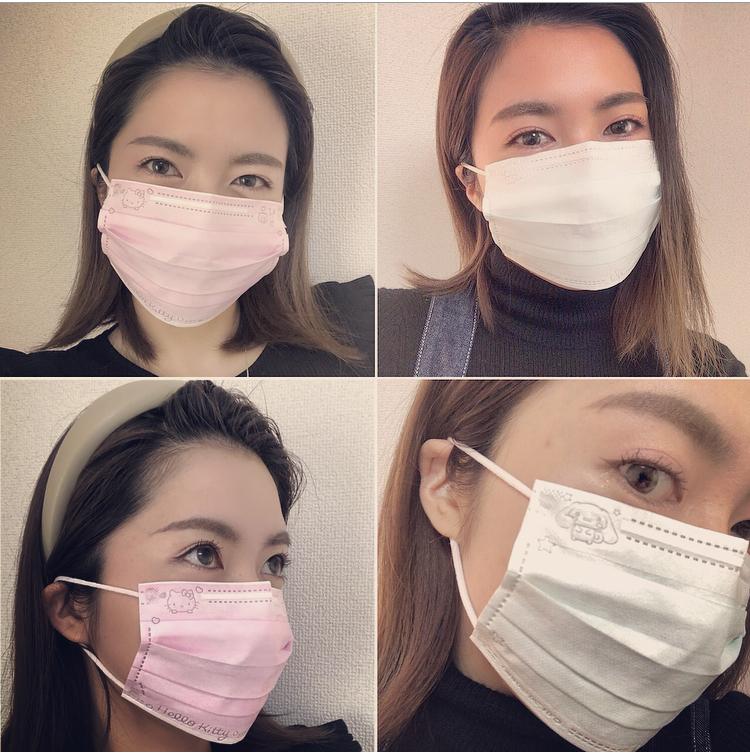 <サンリオ>いつでもキティちゃんとシナモンといっしょ!かわいい不織布マスクで感染症&花粉症予防♡_3
