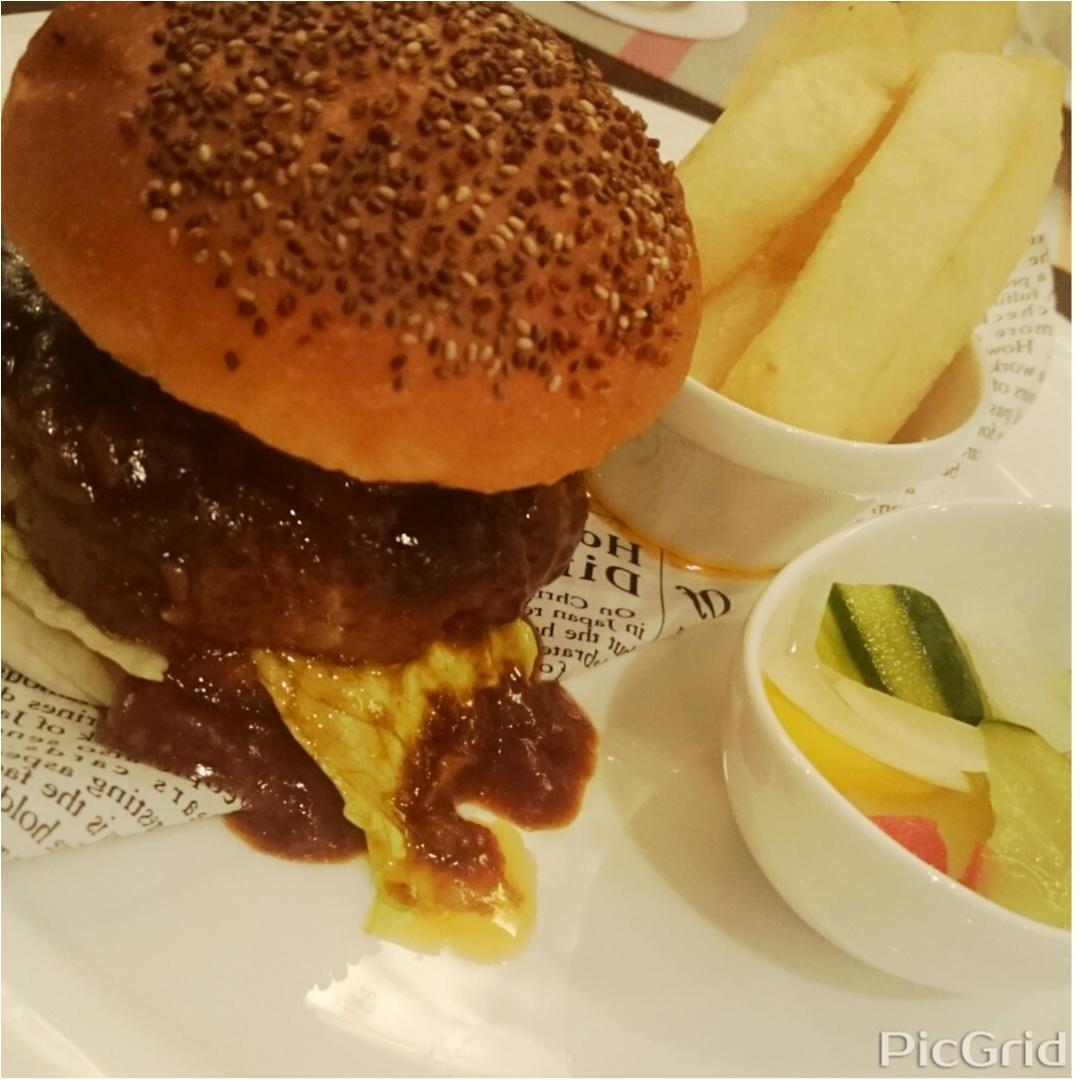 ホテルのハンバーガーディナー♪_1