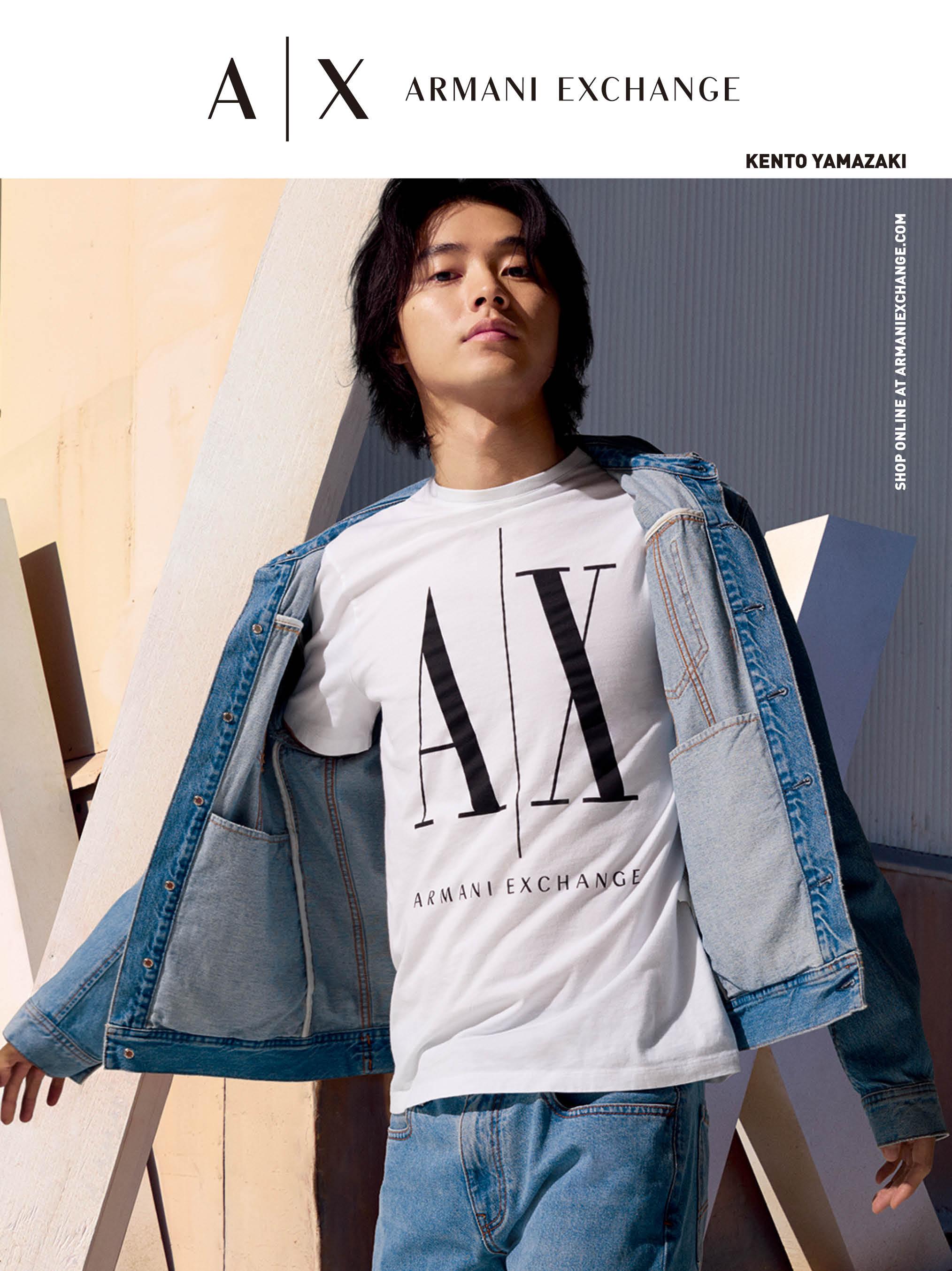 山﨑賢人さん『A|X アルマーニ エクスチェンジ』のキャンペーンモデルビジュアル PhotoGallery_1_2
