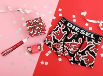 『ディーゼル×パパブブレ』バレンタインコラボ再び! I LOVE YOUのハンドサインで愛を伝えて