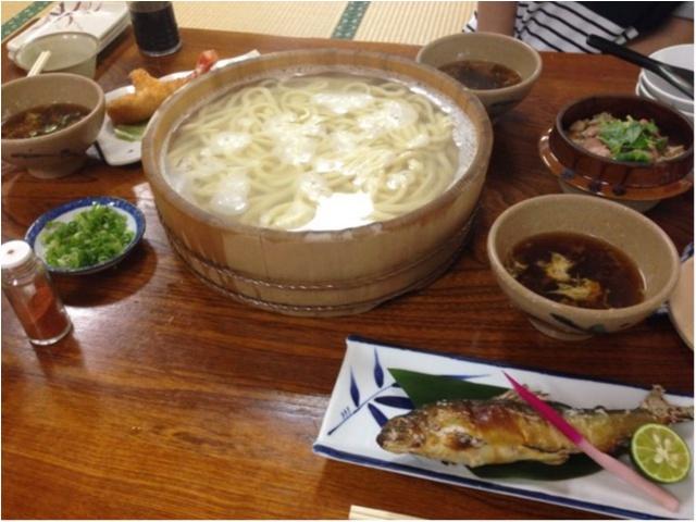 【徳島の郷土料理】大自然に囲まれながら食べる「たらいうどん」おすすめです!!_1