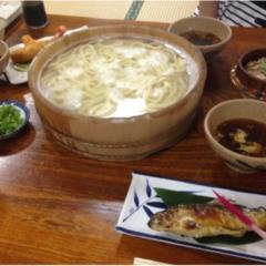 【徳島の郷土料理】大自然に囲まれながら食べる「たらいうどん」おすすめです!!