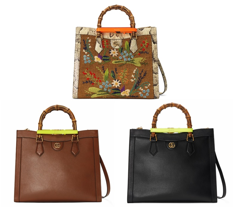 グッチの新作バッグ「グッチダイアナ」ミディアムサイズの3点