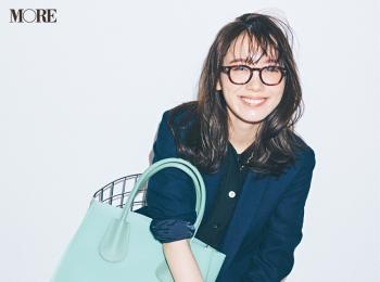 【今日のコーデ】<飯豊まりえ>PVC素材のきれい色バッグで七夕の日のコーデをパッと明るく♪