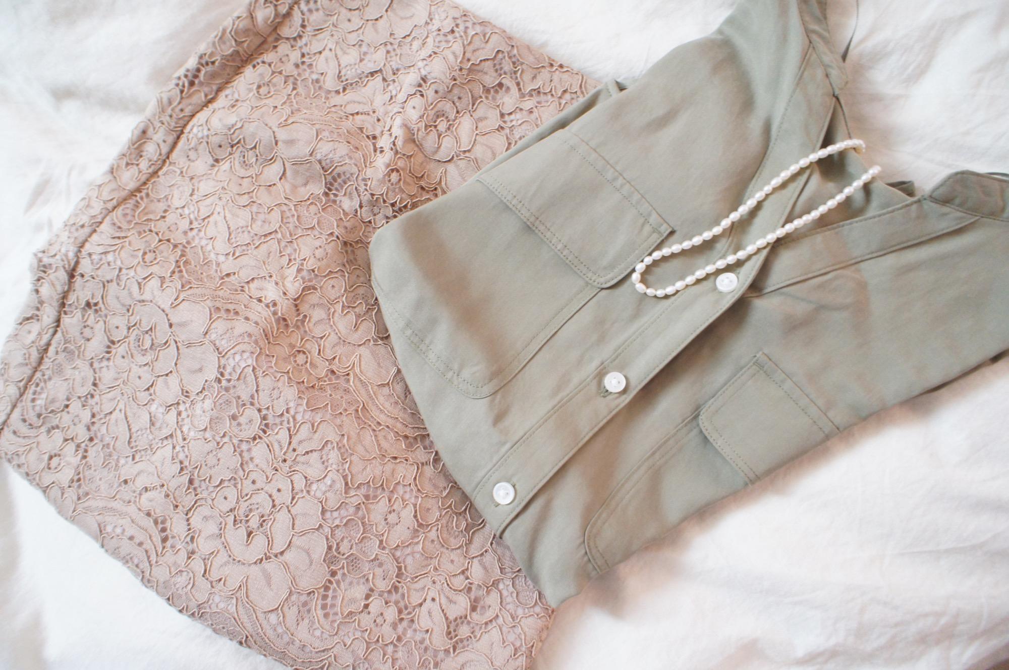 《#170cmトールガール》のプチプラコーデ❤️【GU】ベージュのレースタイトスカートが高見えで使える☻_3