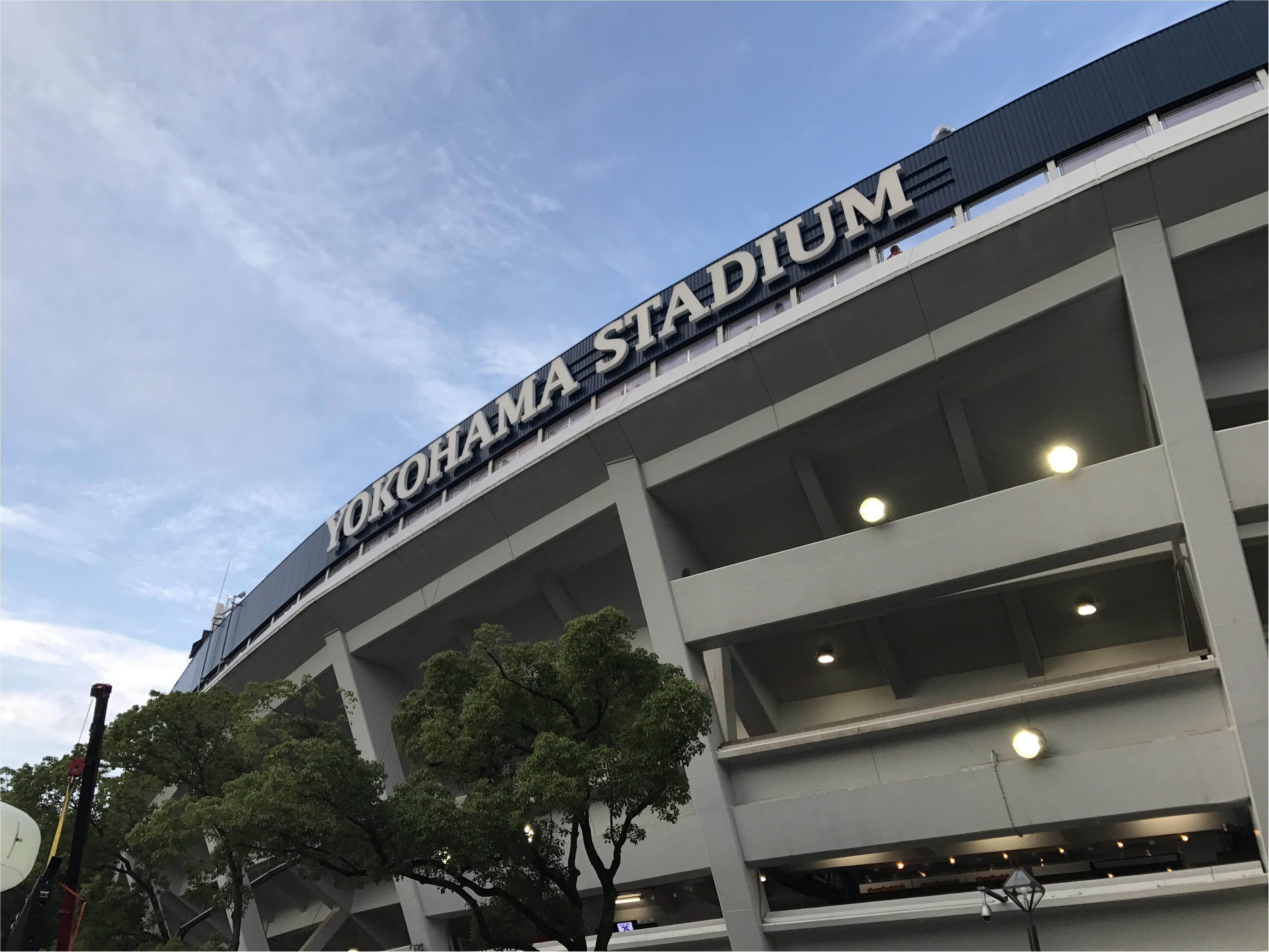 【スポーツ観戦コーデ】横浜スタジアムにて野球観戦してきました!★_1