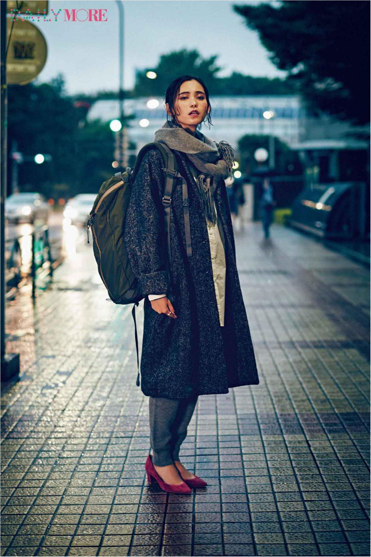 【今日のコーデ/比留川游】週始めから忙しい月曜日はラフコーデ+素敵コートで気分を上げてく!_1