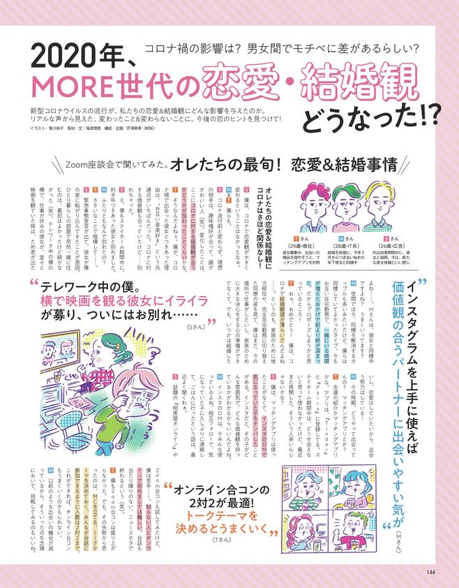 2020年、MORE世代の恋愛・結婚観どうなった!?(1)