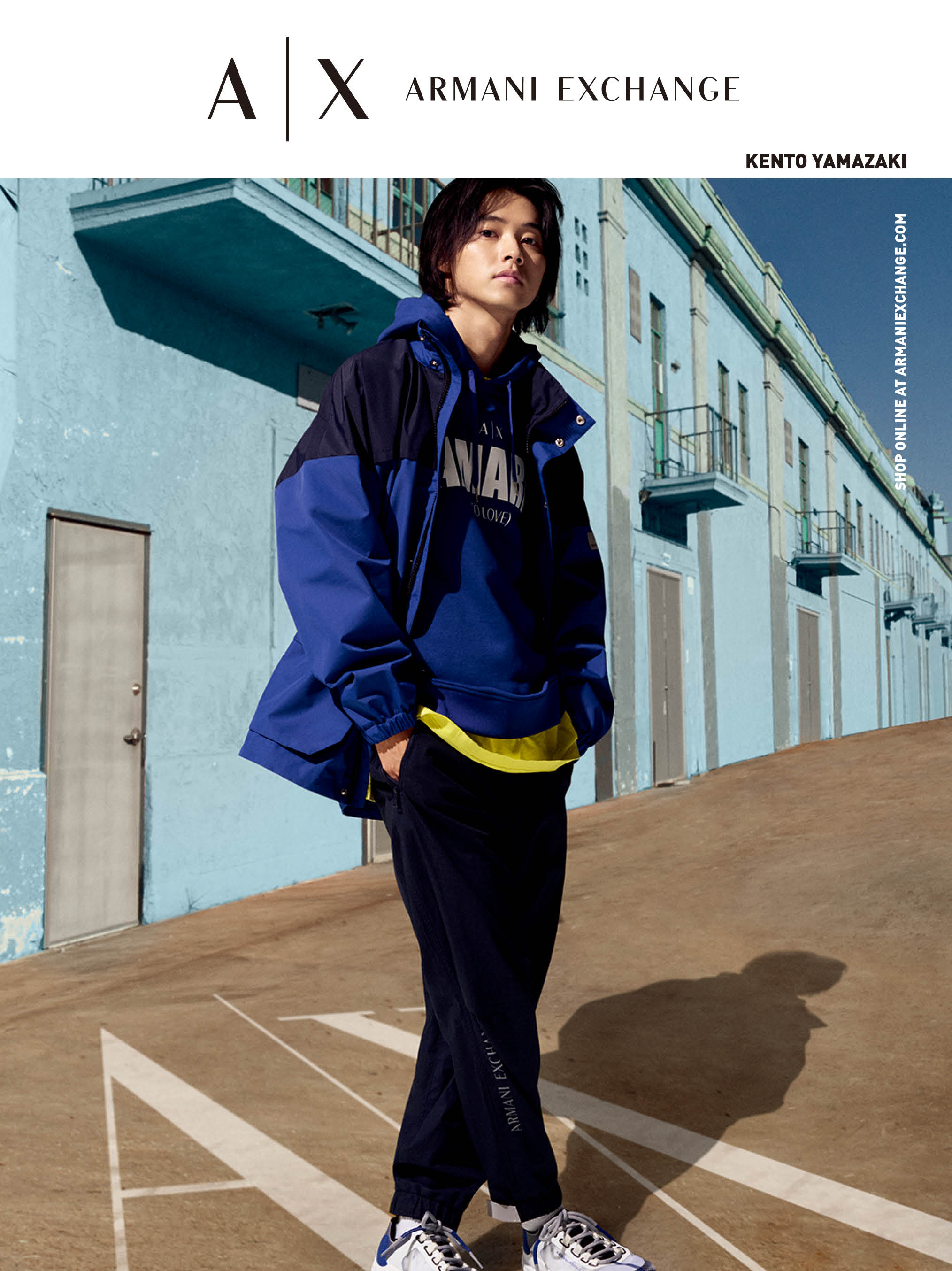 【速報】山﨑賢人さん最新ビジュアル公開♡ 『A|X アルマーニ エクスチェンジ』の夏はスポーティに_4
