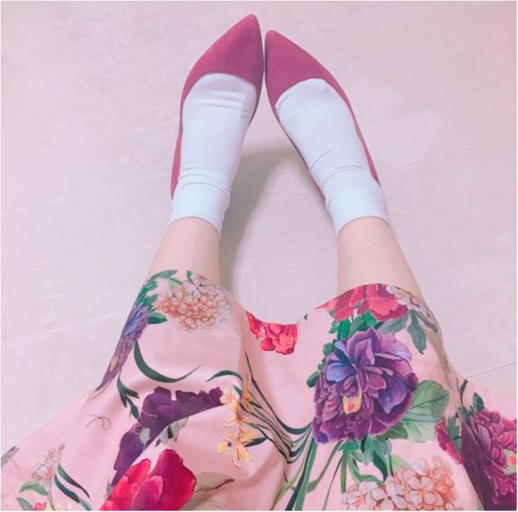 《いま、ザラ(ZARA)女が増えているっ♡!》今年初の春物は売り切れ続出のお花咲きめくミモレスカート♡!_4