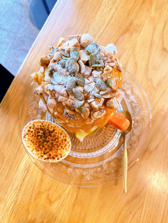 カボチャ かき氷 クリリンキャラメルナッツ