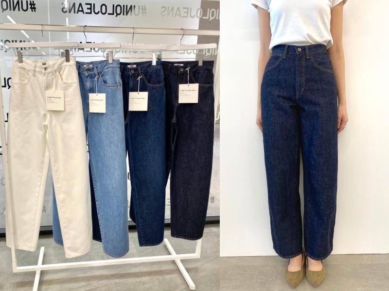 『ユニクロ』のジーンズ全種類はき比べ! スカート風、美脚見え、腰ばき…春はどのシルエットでいく?_5
