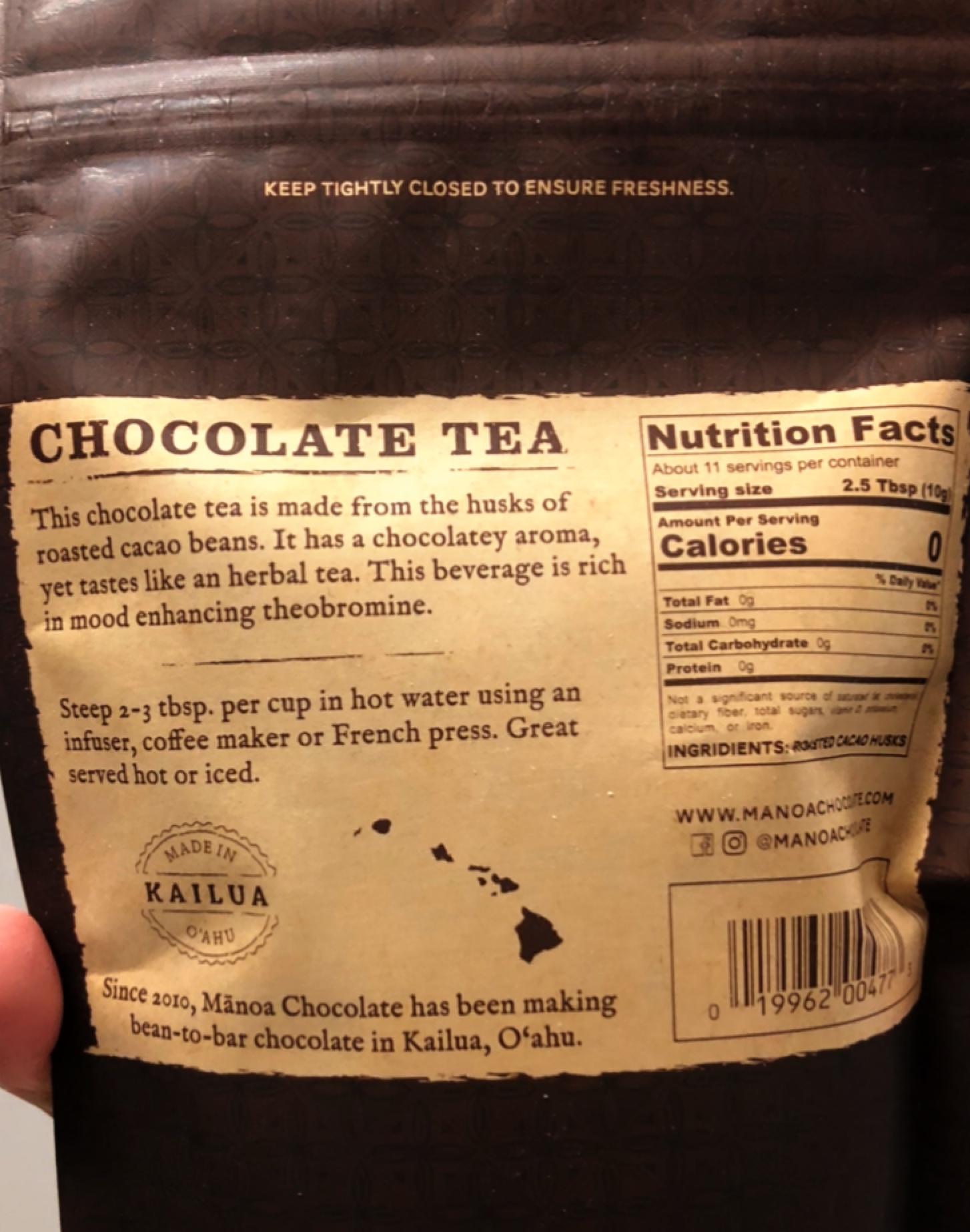 【#ハワイお取寄せ】チョコの芳醇な香りで幸せ気分♡低カフェインでリラックス効果抜群のナチュラルチョコレートティー_3