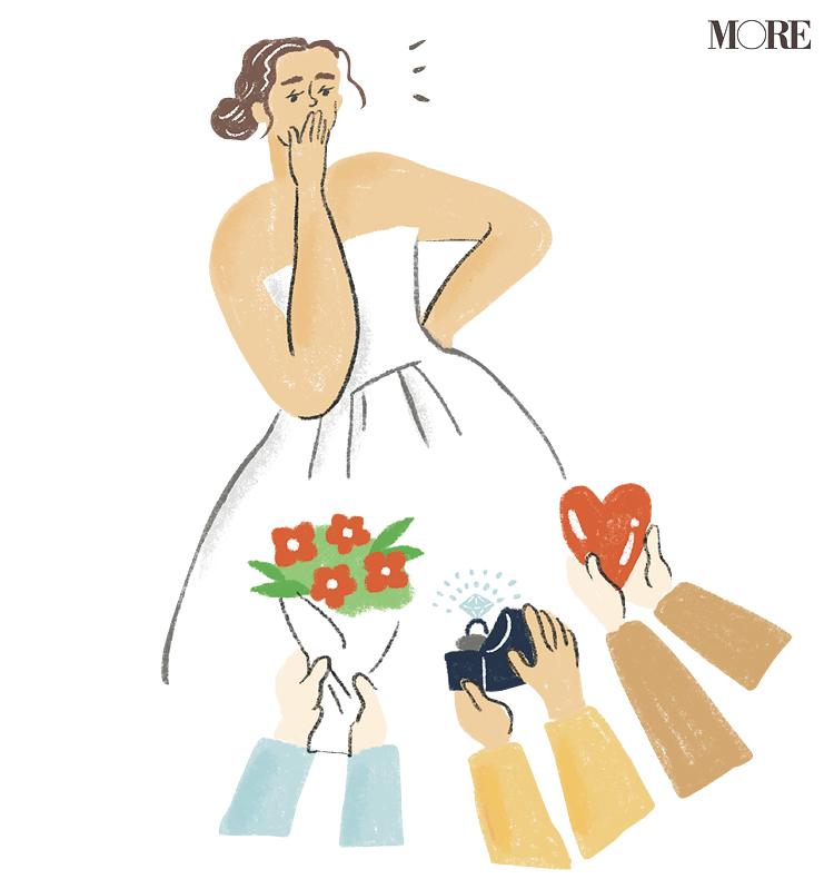 ドレスを着た女性のイラスト