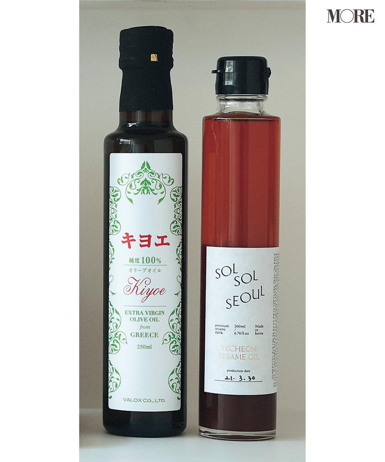 『SOLSOL SEOUL』のごま油、『キヨエ』のオリーブ油
