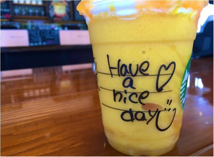 """【FOOD】今日から販売!夏にぴったり!""""マンゴーオレンジフラペチーノ"""" を○○UPでさらに美味しく♡ _7"""