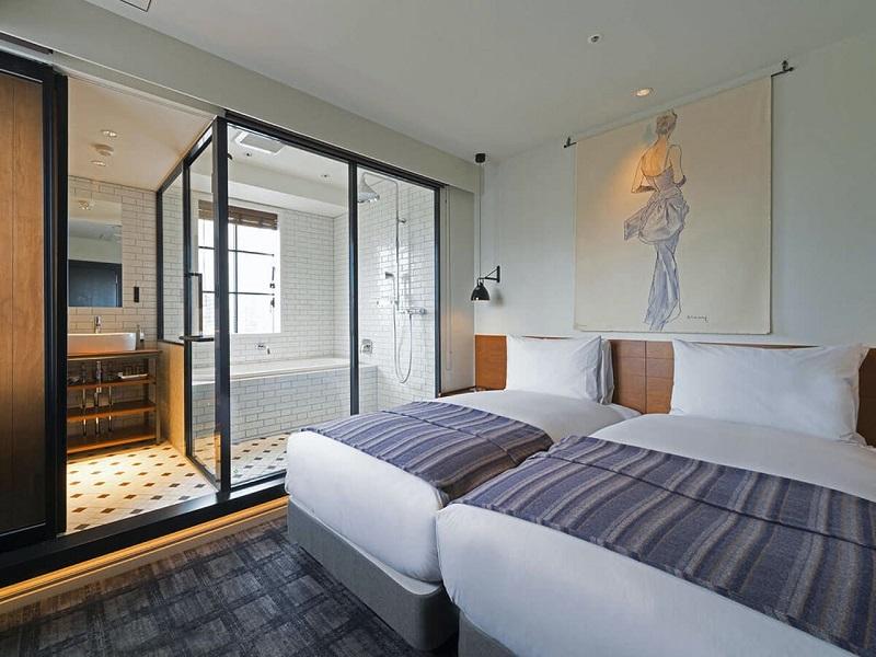 【東京のおしゃれなホテル】『恵比寿ホリックホテル』「ハリウッドツイン」部屋