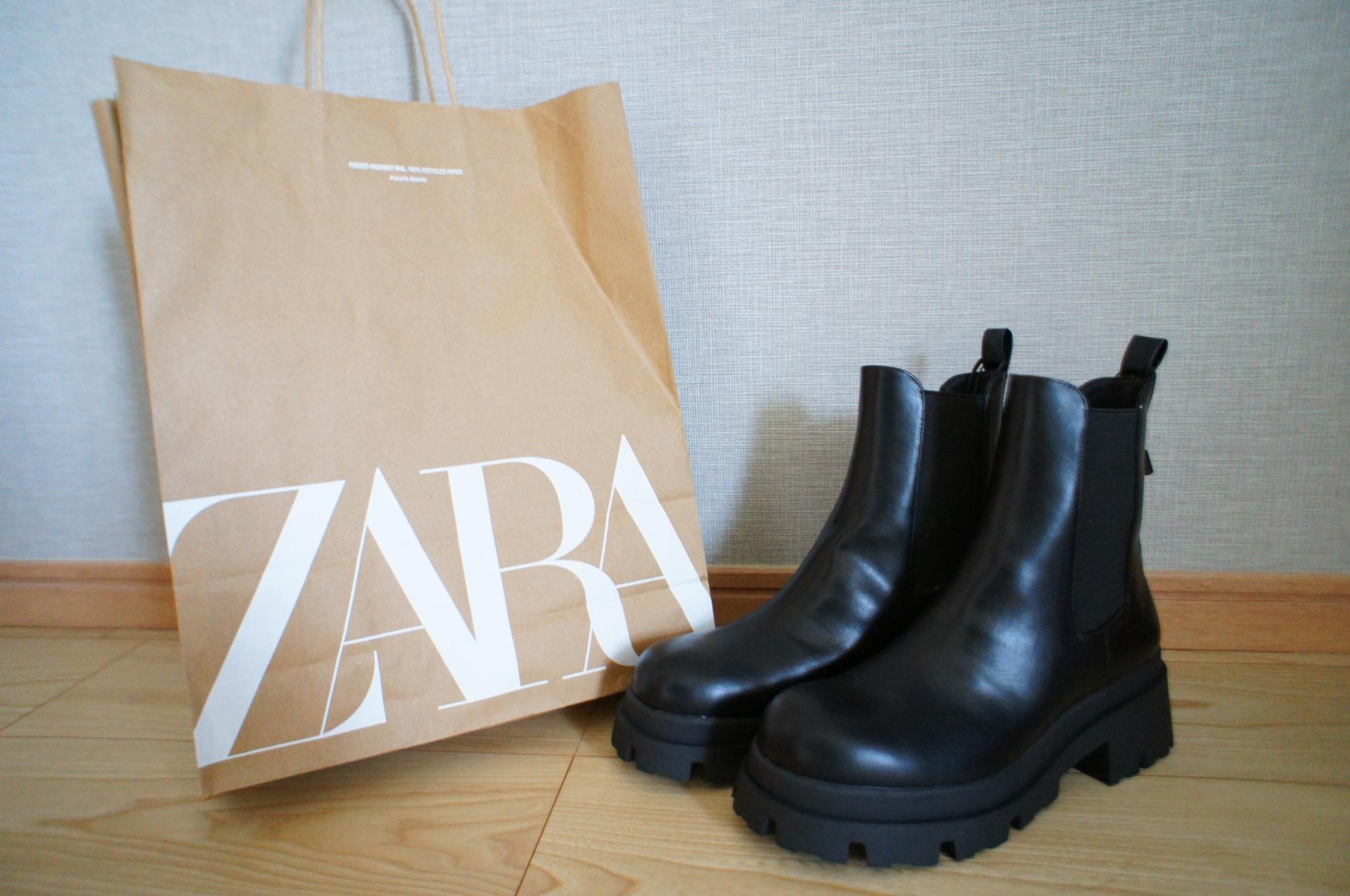 《入手困難⁈》【ZARA】再入荷のたびに品薄!噂の黒サイドゴアブーツ☻❤️_1