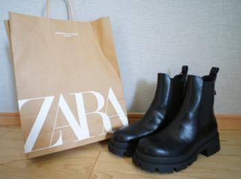 《入手困難⁈》【ZARA】再入荷のたびに品薄!噂の黒サイドゴアブーツ☻❤️