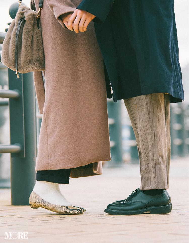 """最終回!「狙ったわけじゃないけどフラット靴のほうが……ね♡」鈴木友菜主演【通勤の足もと""""いつも黒""""から脱出着回し20日目】_2"""