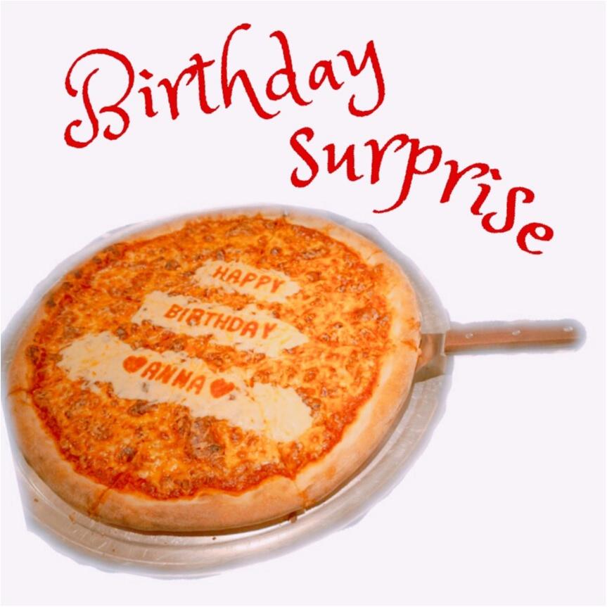 《サプライズは突然に♡》メッセージ入りのピザって見たことある?PIZZA SLICEの【バースデーピザ】が誕生日祝いの新定番‼︎_7