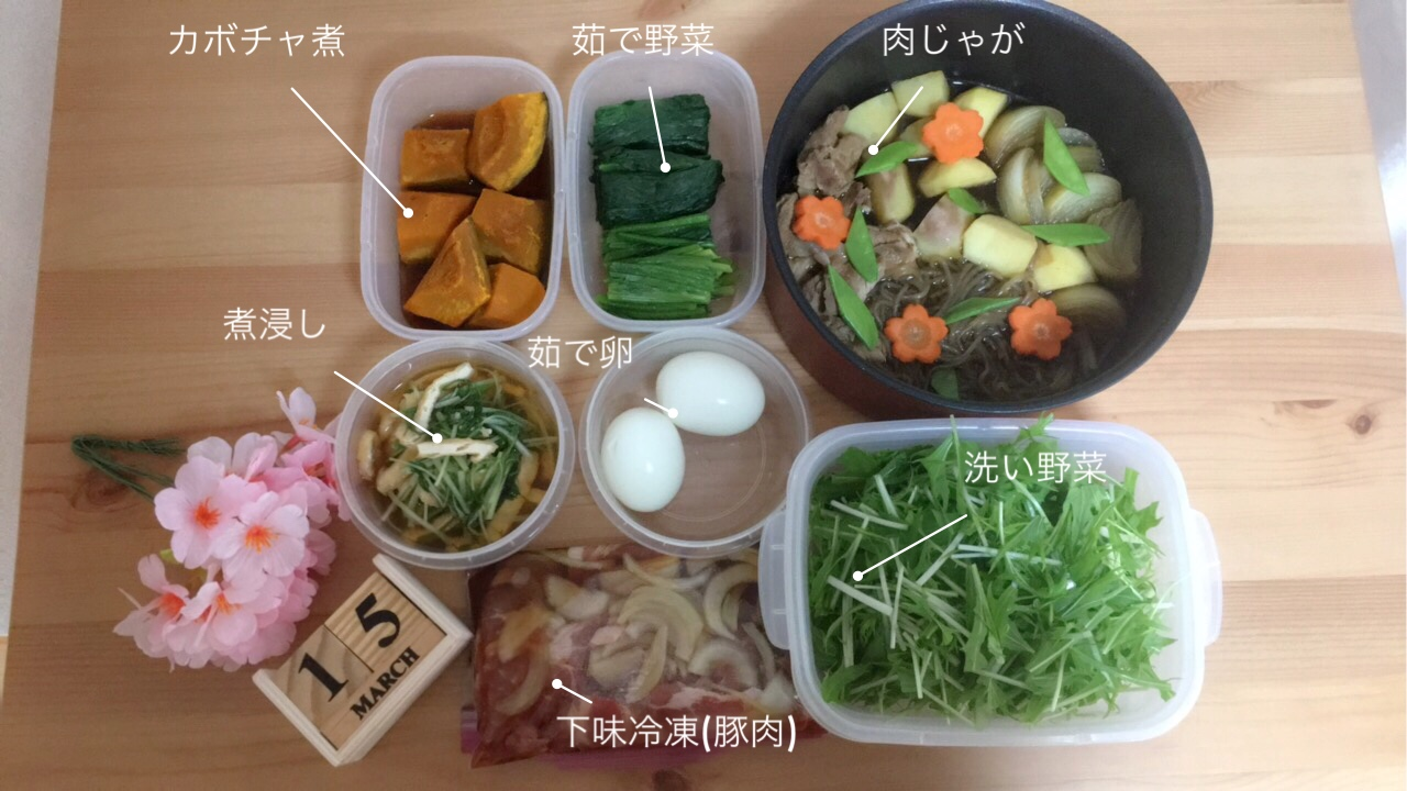 《週末》簡単作り置き(煮物)と下味冷凍!_1