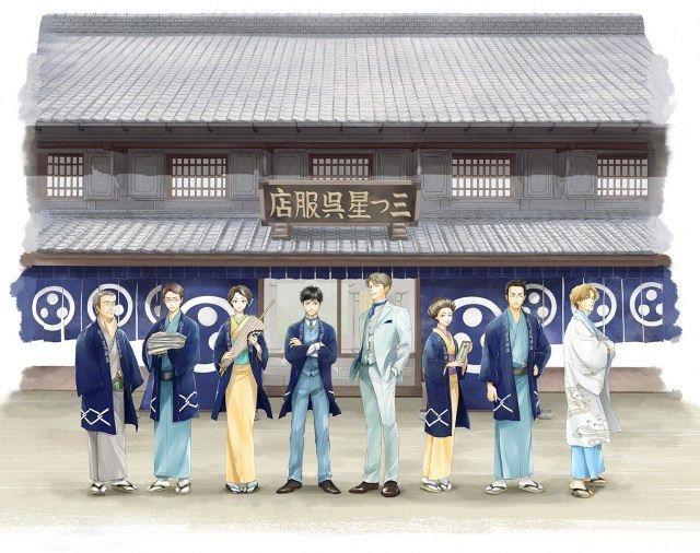 マンガ『日に流れて橋に行く』と『誠品生活日本橋』がコラボイベントを開催中! 藍染の手ぬぐいなどオリジナルグッズを販売_2