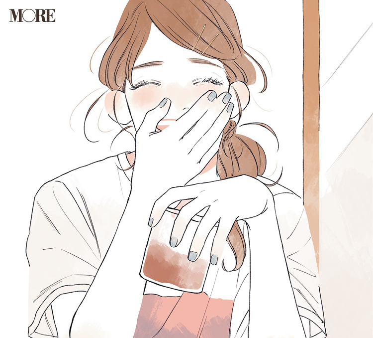 みんなで初めてのリモート飲み会☆ 同僚3人の恋物語『涼しげ寒色服着回し』8日目_3