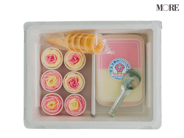 秋田県バラ盛りアイスのキットにはコーンやババヘラも同梱