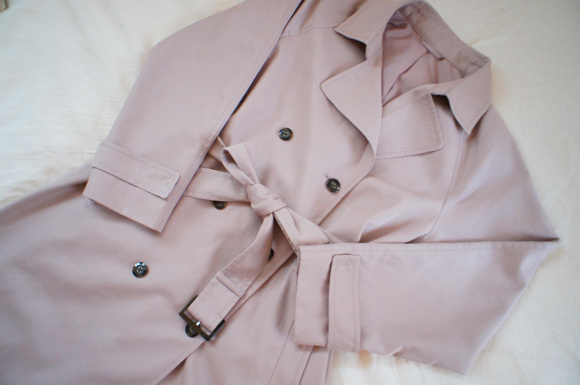 《#170cmトールガール》のプチプラコーデ❤️【GU】人と被らない!くすみピンクのトレンチコートが優秀☻_1