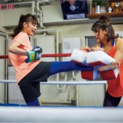 【内田理央の「キックボクシング」チャレンジ!】い、いきなり! だーりお、絶対女王・RENAさんに キックの基本を学びます!【#モアチャレ リポート】