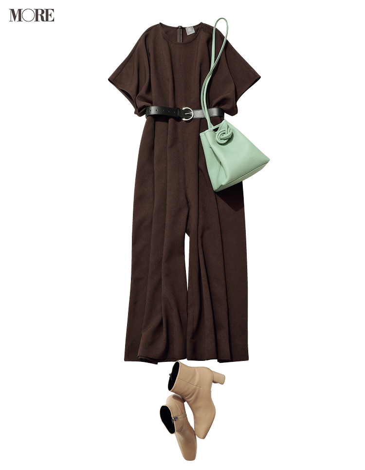 通勤服の新顔候補・オールインワンを楽&キレイに着こなしたいから♡かっちり見せる靴とバッグとの合わせ方_3
