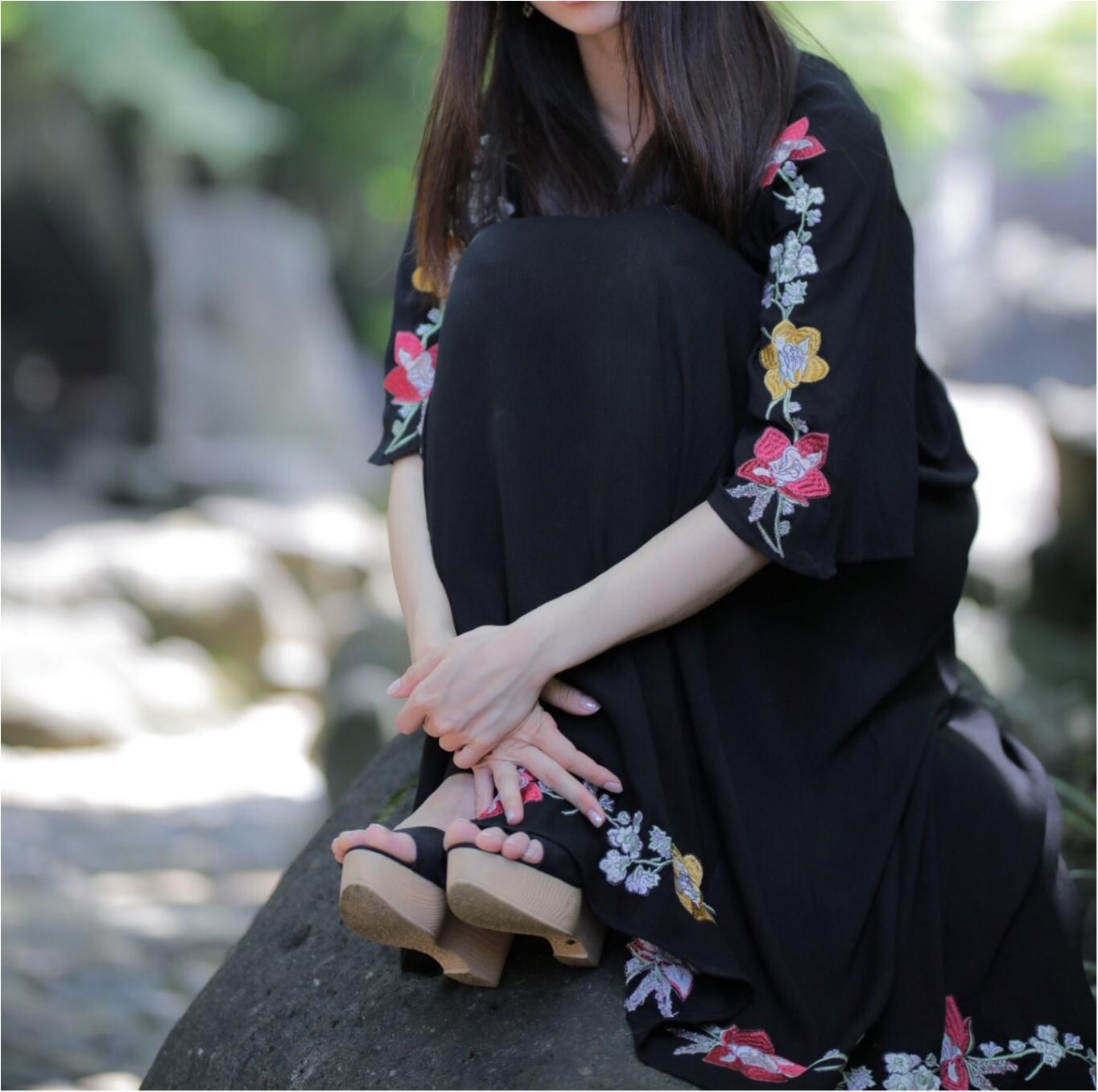 花柄刺繍の存在感が◎1枚で着れちゃう○○のワンピースに一目惚れ☺︎_8