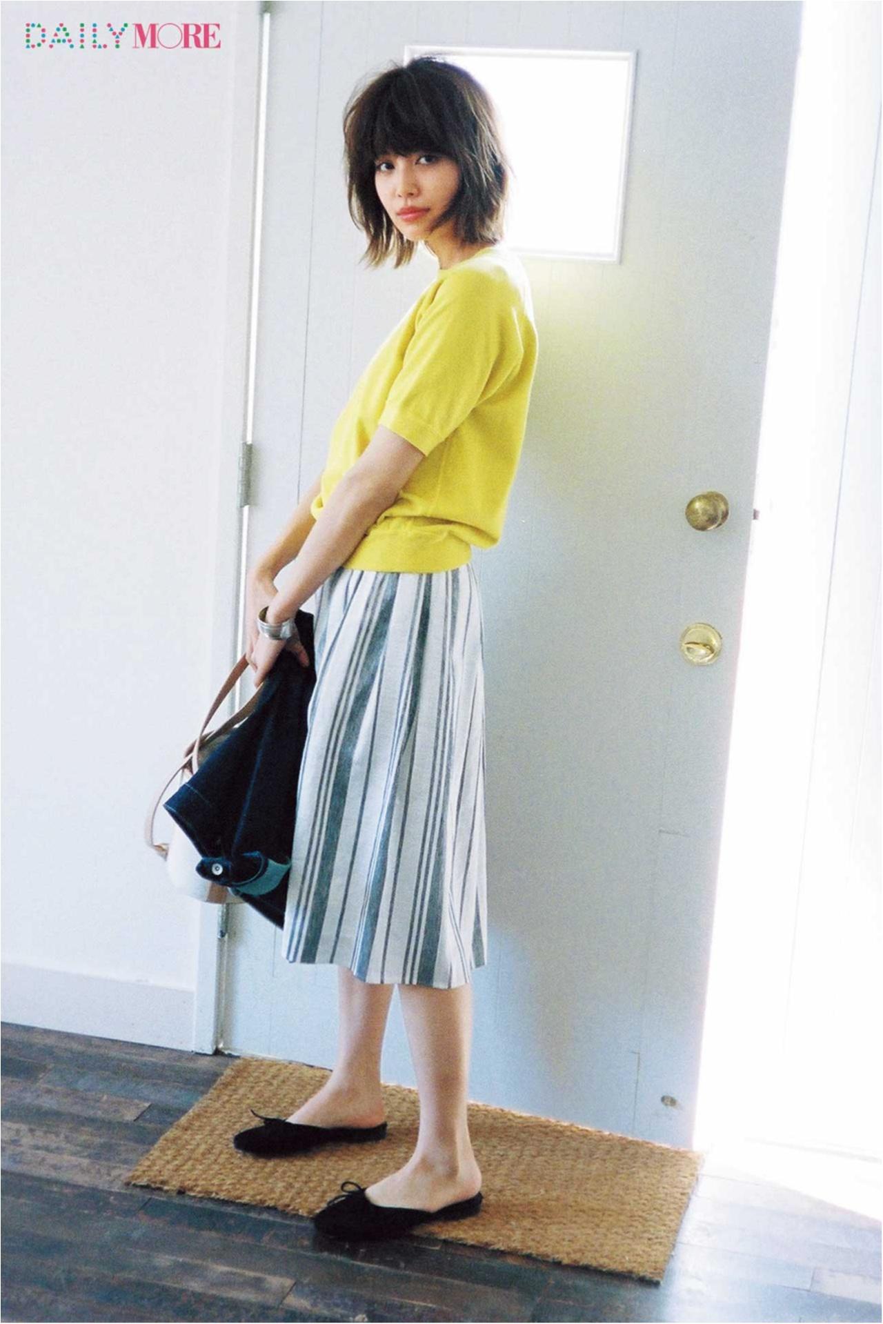 【今日のコーデ/垣内彩未】バレエ靴の顔したスリッパ。ちょっとスタイルよく見えて、月曜日もご満悦♡_1