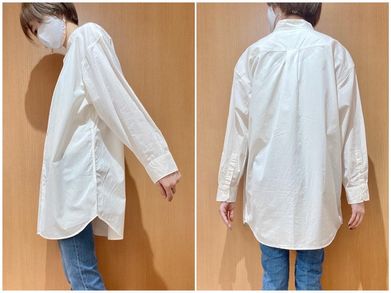 ユニクロユーオーバーサイズシャツのディティール